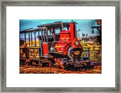 Calico Beautiful Red Train Framed Print