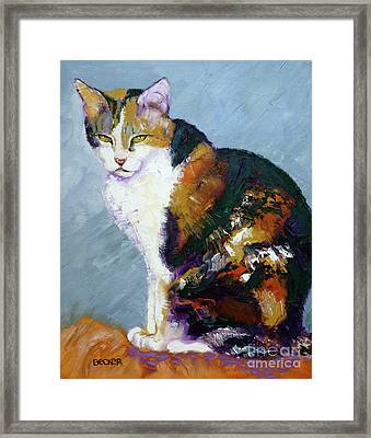 Calico Buddy Framed Print