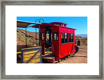 Calico Caboose Framed Print by Garry Gay