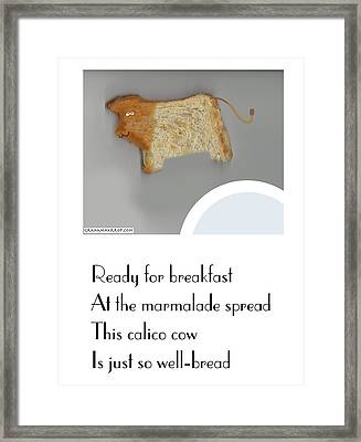 Calico Cow Framed Print