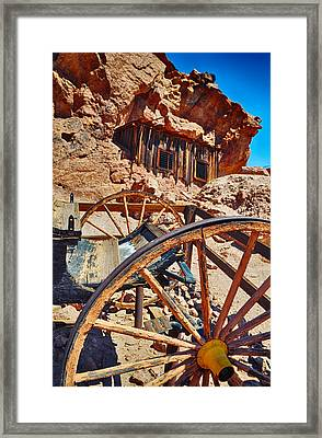 Calico Ghost Town Mine Framed Print