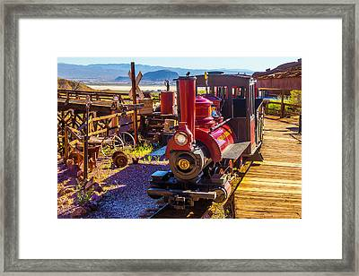 Calico Ghost Town Train Framed Print