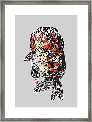 Calico Kirin Ranchu Framed Print by Shih Chang Yang