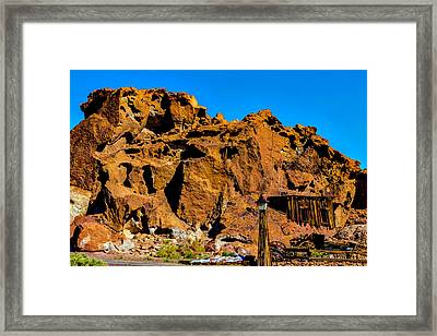 Calico Miners Shack Framed Print by Garry Gay