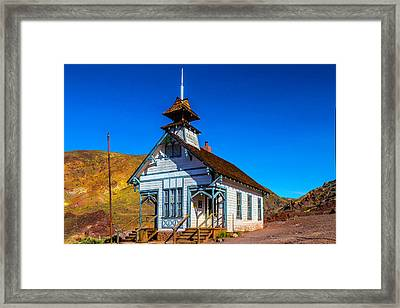 Calico School House Framed Print by Garry Gay