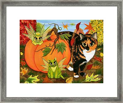Calico's Mystical Pumpkin Framed Print