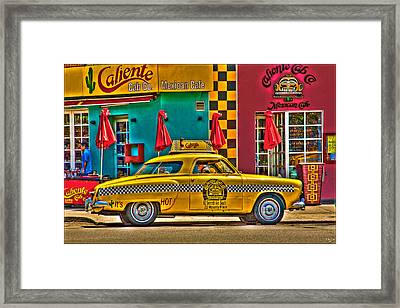Caliente Cab Co Framed Print