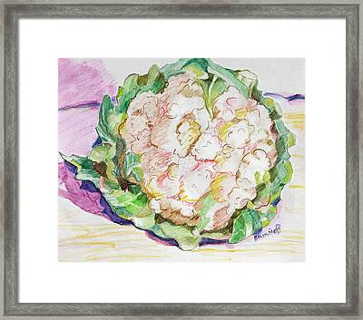 Califlower Framed Print