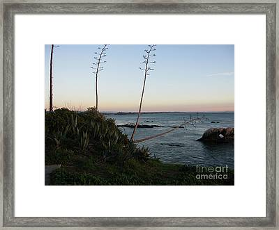 California At Twilight Framed Print