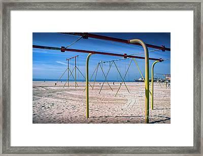 California Beach Workout Framed Print by David Zanzinger