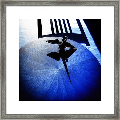 Framed Print featuring the photograph California Blue by Wayne Sherriff