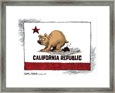 California Budget Iou Framed Print
