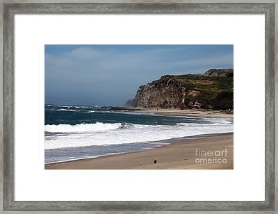 California Coast - Blue Framed Print by Amanda Barcon