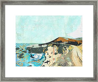 California Coast Collage Framed Print by Claudia Schoen