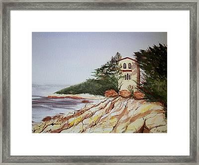 California Coast Dreamhouse Framed Print by Judy Via-Wolff