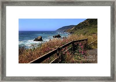 Framed Print featuring the photograph California Coast by Joseph G Holland