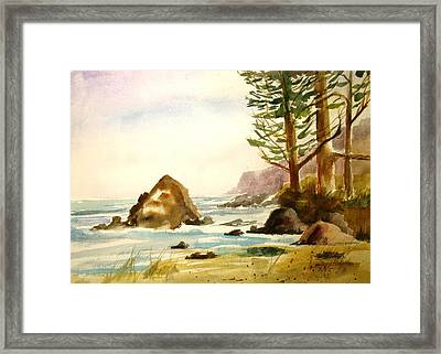 California Coast Framed Print by Larry Hamilton