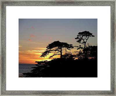 California Coastal Sunset Framed Print