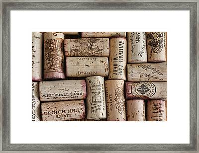 Framed Print featuring the photograph California Corks by Nancy Ingersoll