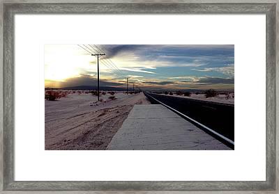 California Desert Highway Framed Print