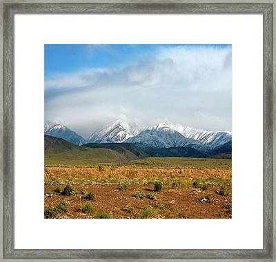 California Desert Landscape Framed Print by Gilbert Artiaga