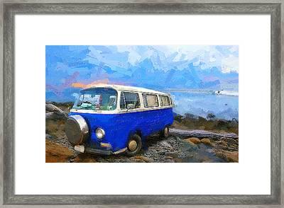 California Dreamin Blue Framed Print by Ron Regalado