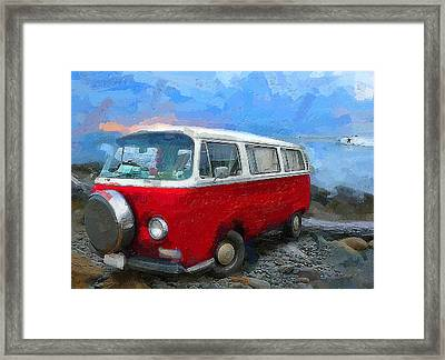 California Dreamin Red Framed Print by Ron Regalado