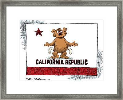 California Empty Pockets Framed Print