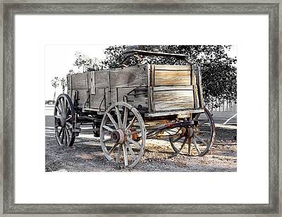 California Farm Wagon Framed Print