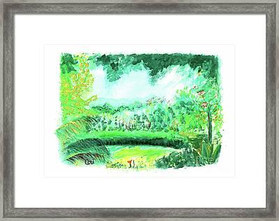 California Garden Framed Print