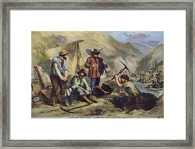 California Gold Diggers Framed Print by Granger