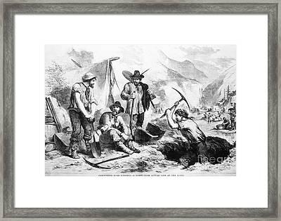 California Gold Rush, 1856 Framed Print by Granger