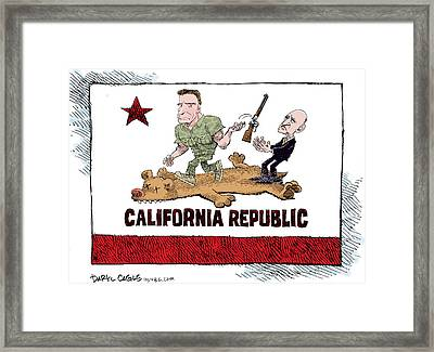 California Governor Handoff Framed Print