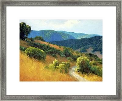 California Hills Framed Print