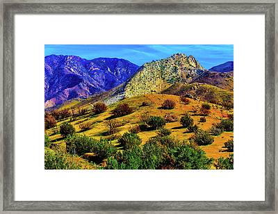 California Hills Framed Print by Garry Gay