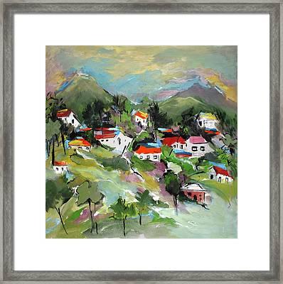 California Hills   Framed Print by Mary Spyridon Thompson