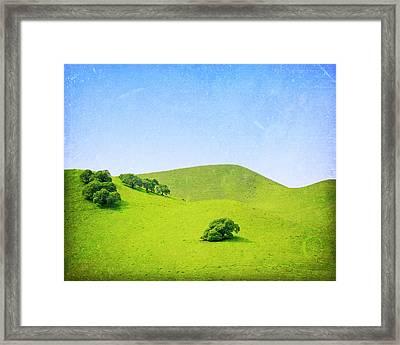 Framed Print featuring the photograph California Hillside by Melanie Alexandra Price