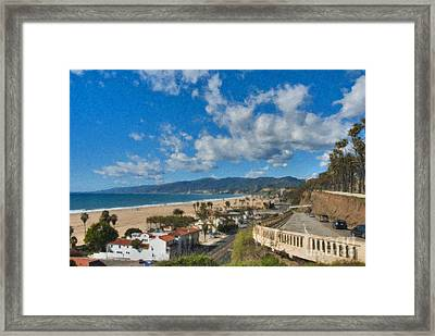 Framed Print featuring the photograph California Incline Palisades Park Ca by David Zanzinger