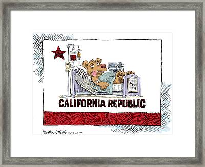 California Is Sick Framed Print