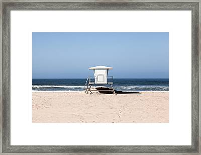 California Lifeguard Tower Photo Framed Print by Paul Velgos