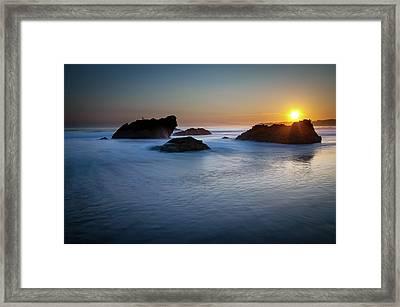 California Ocean Sunset Framed Print