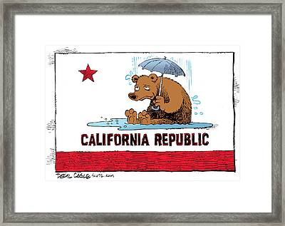 California Rain Framed Print