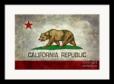 Patriotic Digital Art Framed Prints