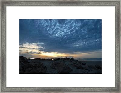 California Rocky Beach Sunset  Framed Print