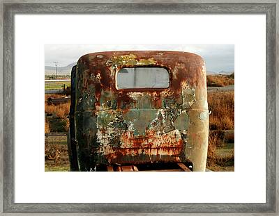 California Rusted Truck Framed Print by Suzanne Lorenz
