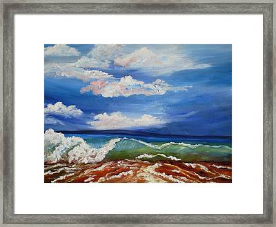 California Seascape Framed Print