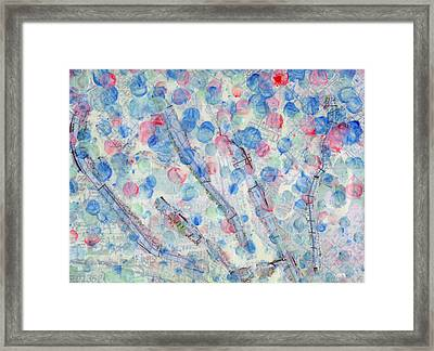 California Splatter Map - La River Framed Print by Sean Corcoran