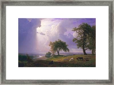 California Spring, C. 1875 Framed Print by Albert Bierstadt