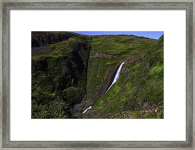 California Spring Falls Framed Print by Garry Gay