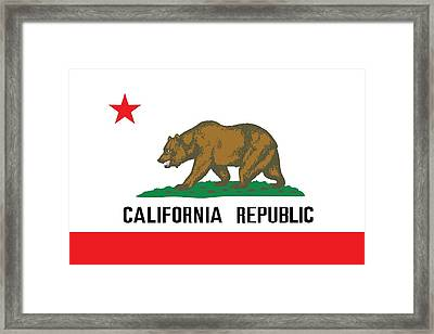 California State Flag Framed Print by American School